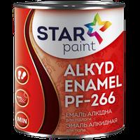 Эмаль для пола ПФ-266 STAR Paint, красно-коричневая, 0.9 кг 0,9 кг
