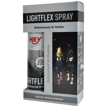 Світловідбиваюча фарба-спрей для одягу HEY-SPORT Lightflex Spray 205100, фото 2