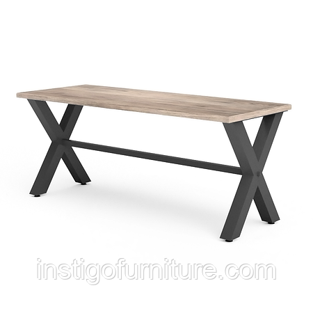 Комплект регулируемых опор с перемычкой для стола из металла