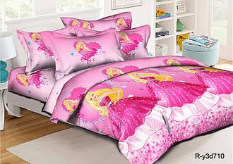 Полуторный комплект постельного белья 145х215 из ранфорса Барби на балу (1.0) (70х70)
