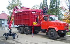 Автомобиль-металловоз (ломовоз) на базе шасси автомобиля КРАЗ, фото 2
