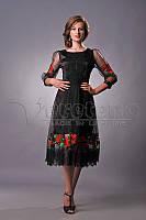 Плаття чорне вишите жіноче орнамент
