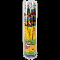 Карандаш графитовый HB с ластиком EMOTIONS, 20 шт. в тубе