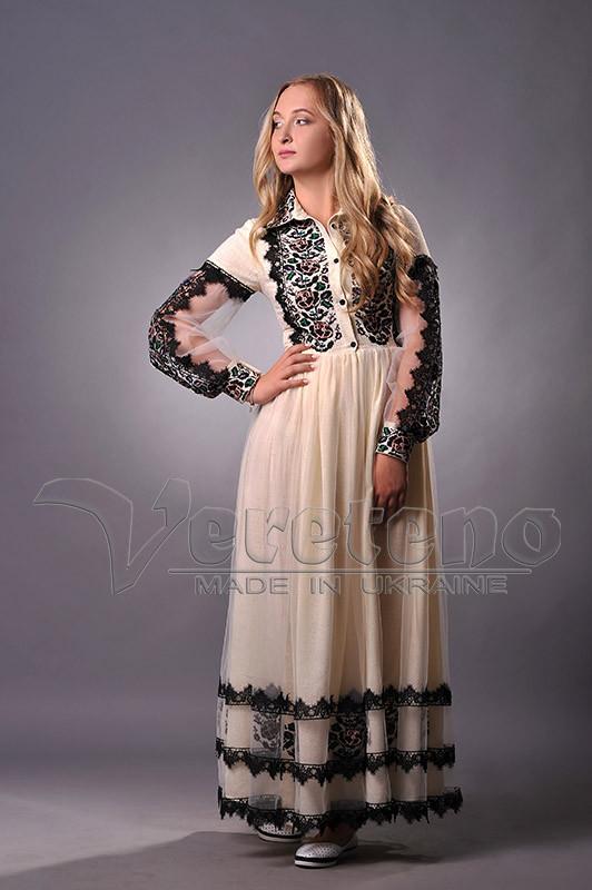 03e98840e2601d Вишите плаття з льону, жіноче вечірнє плаття з вишивкою: продажа ...