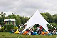Шатер Звезда, 10 метров, белый, пляжный тент палатка