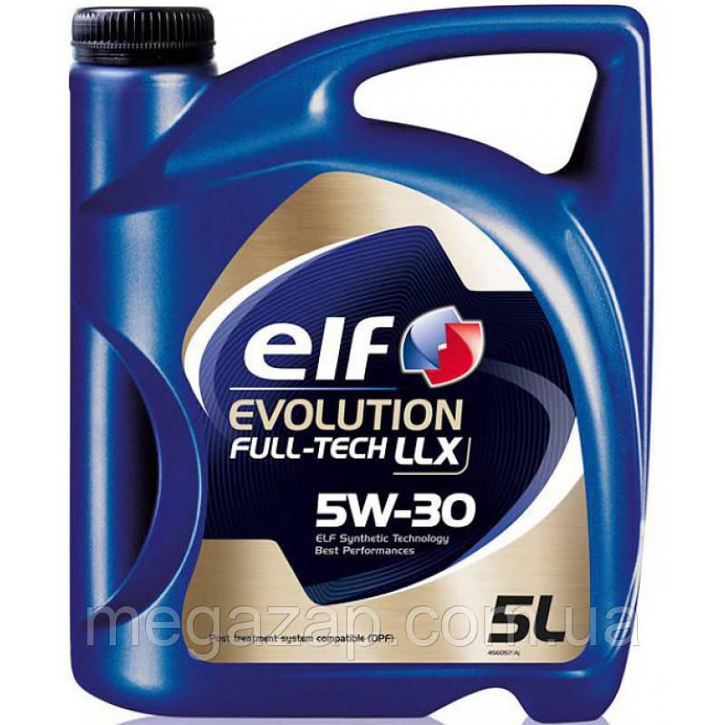 Масло моторное синтетическое Elf Evolution FullTech LLX 5W30 5л.