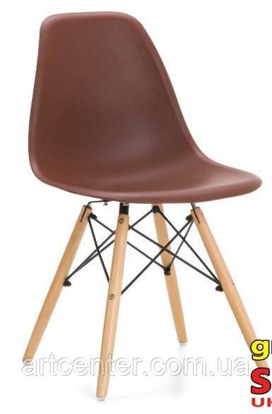 Стул для офиса, стул пластиковый для посетителей, стул для кафе (стул Тауэр Вуд коричневый)