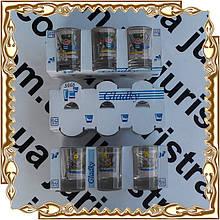 Набор 6 пр. стаканов 50 мл. Рыбалка деколь 3Ф3 3966