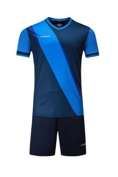 Футбольная форма Europaw 018 темно-сине-голубая