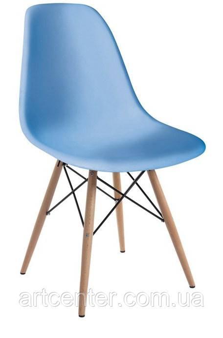 Стілець для офісу, стілець пластиковий для відвідувачів, стілець для кафе (стілець Тауер Вуд блакитний)
