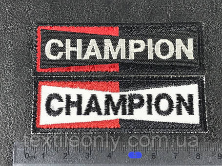 Нашивка champion ( чемпион ) черный 82х21мм, фото 2