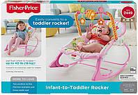 Массажное кресло-качалка Зайчик банни Fisher-Price Infant To Toddler Rocker Bunny Y4544