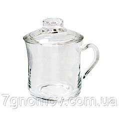 Кружка стеклянная с крышкой Чай 350 мл