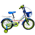 Детский велосипед Crosser Happy 16 дюймов бело-салатовый, фото 2