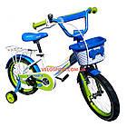 Детский велосипед Crosser Happy 16 дюймов бело-салатовый, фото 3