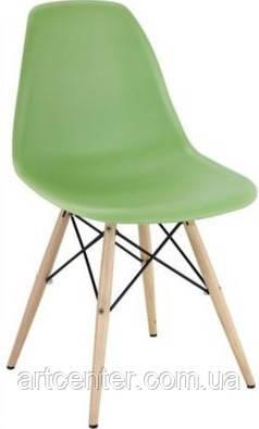 Стул для офиса, стул пластиковый для посетителей, стул для кафе (стул Тауэр Вуд зеленый)