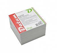 Блок для записей белый 85*85 800 листов, не склеенный, Datum