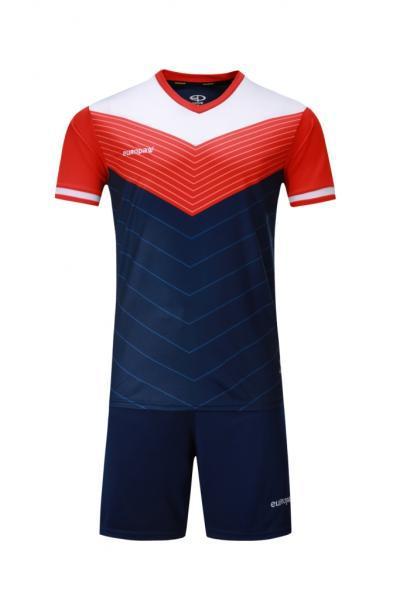 Футбольная форма Europaw 019 темно-сине-оранжевая