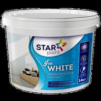 Краска для стен и  потолков Ice WHITE STAR Paint, 4 кг