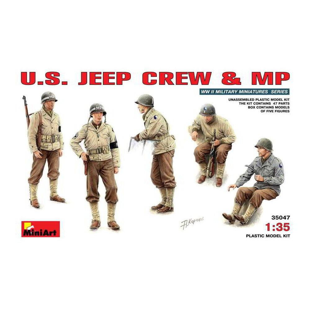Американский экипаж джипа и военная полиция. Набор пластиковых фигур. 1/35 MINIART 35047