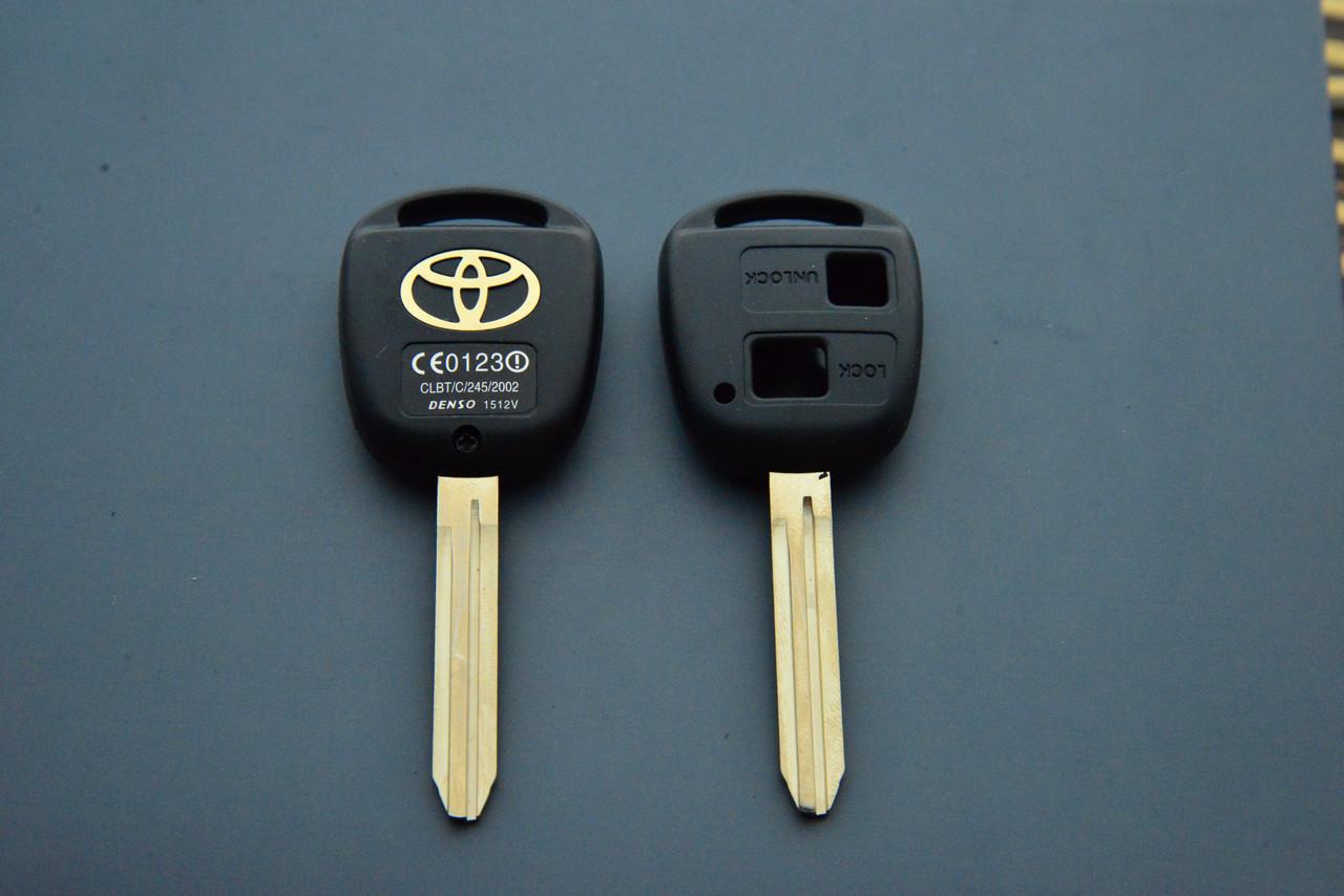 Корпус авто ключа Toyota Avensis, Yaris (Тойота Авенсис, Ярис) 2 кнопк