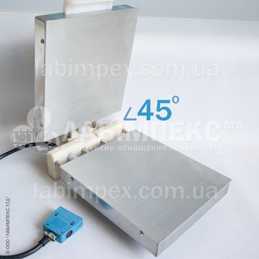 При закладке пакетов с образцами продуктов , угол открытия верхнего блока не должен превышать 45°