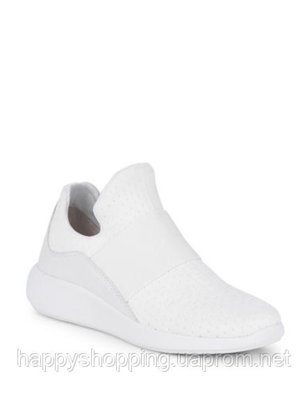 Женские  белые текстильные кроссовки Donna Karan