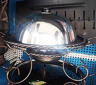 Садж 360 мм большой - подставка под шашлык с крышкой