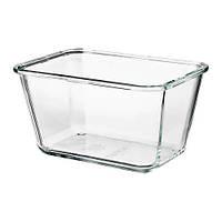 Контейнер для хранения продуктов IKEA 365+ 1.8 л прямоугольный стеклянный 703.592.03