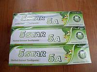 Органическая известная паста с отбеливающим эффектом в тюбике,5 STAR 5A Herbal Extract Toothpaste 80г