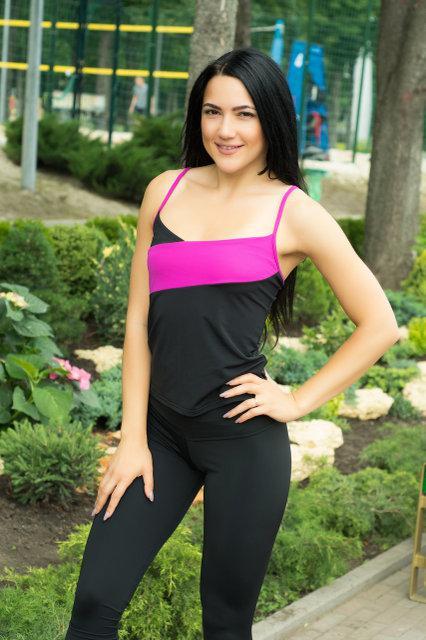 Женская спортивная майка Sexy Sport Black+Pink