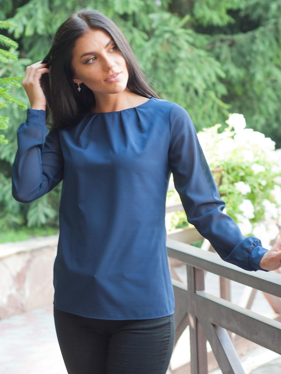 Женская блуза с длинным рукавом оптом