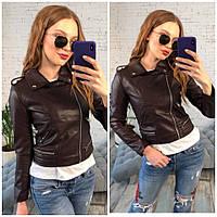 Куртка темно-коричневая.Размер 42.44.46. Фабричный Китай