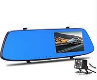 """Зеркало - видеорегистратор 4.3"""" дюйма с видеопарковкой и камерой заднего вида (3 в 1)"""