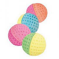 Мяч зефирный, двухцветный, игрушка для котов, 3,5см.