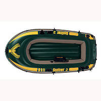 Лодка надувная Intex 68346 Seahawk на 2 человека Зеленый (int68346)