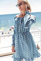 Короткое летнее платье с принтом , фото 1