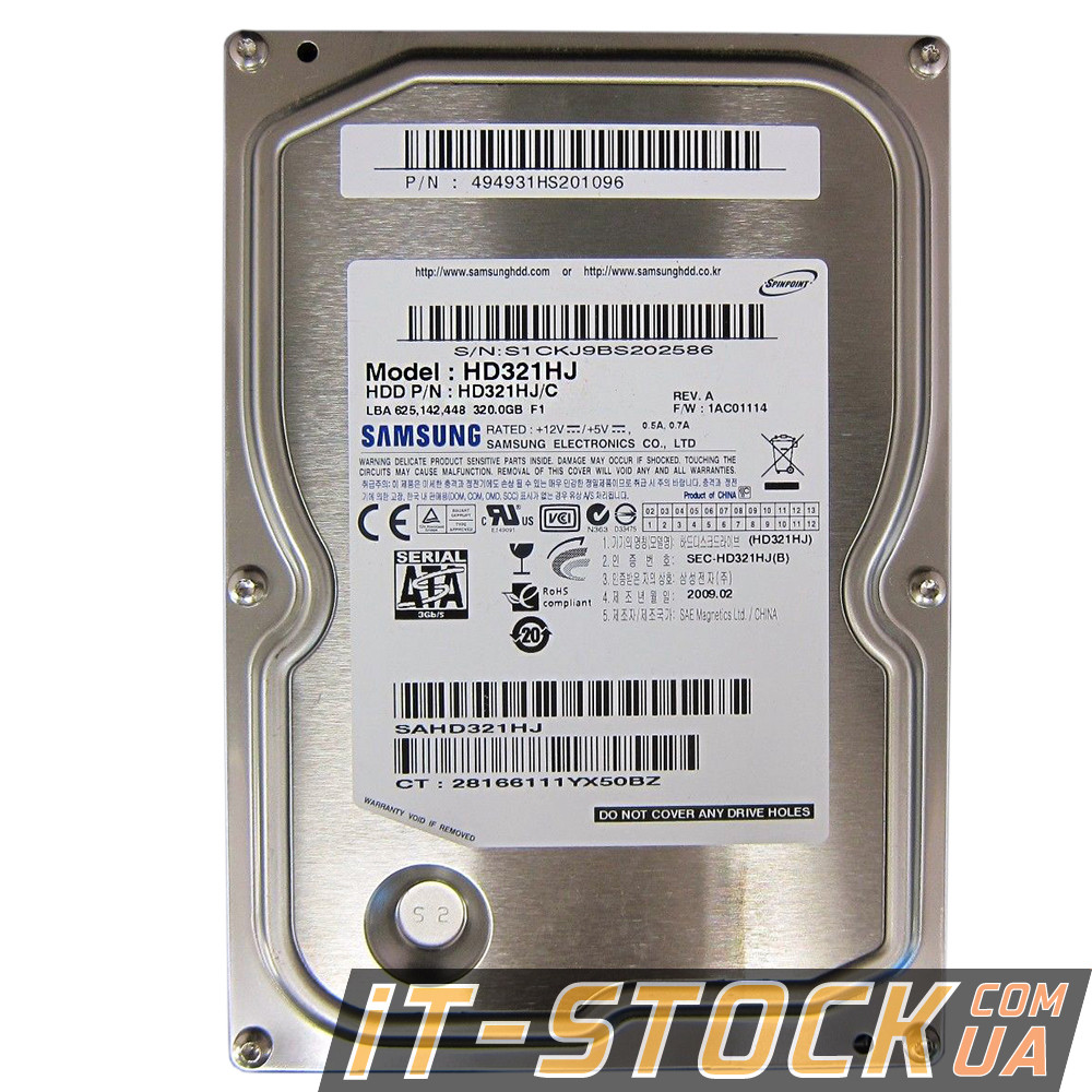 "Жесткий диск 3.5"" 320Gb Samsung HD321KJ (16Mb/7200/SATAII) б/у"