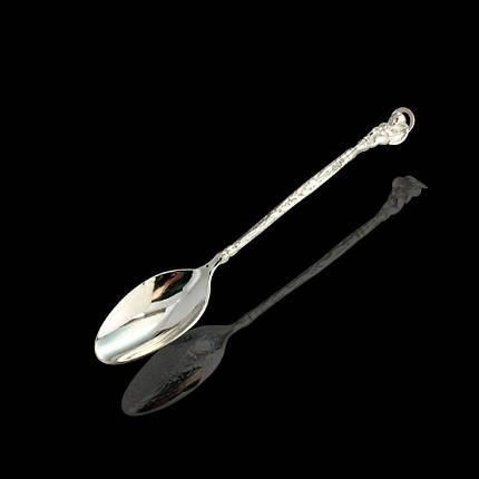 Серебряная подарочная ложка Ангелочек, 8 грамм, фото 2