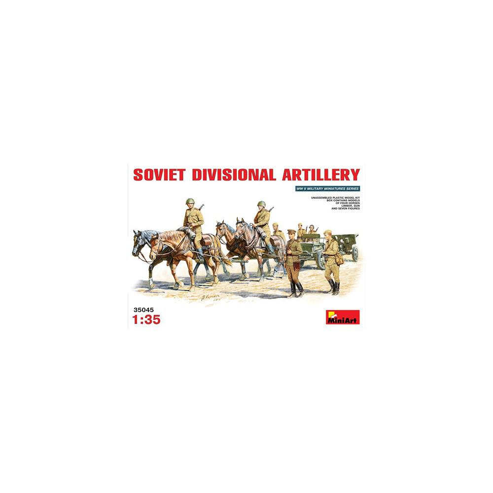 SOVIET DIVISIONAL ARTILLERY / СОВЕТСКАЯ ДИВИЗИОННАЯ АРТИЛЛЕРИЯ. 1/35 MINIART 35045
