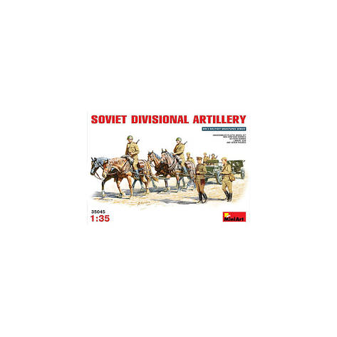 SOVIET DIVISIONAL ARTILLERY / СОВЕТСКАЯ ДИВИЗИОННАЯ АРТИЛЛЕРИЯ. 1/35 MINIART 35045  , фото 2