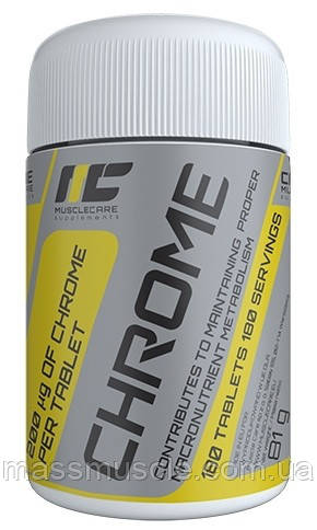 Жиросжигатель Muscle Care Chrome 180 tabs