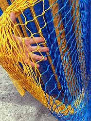 Оградительная сетка 50мм*3,5мм*40яч из полиамида цвет синий с желтым