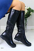 Женские кожаные сапоги , фото 1