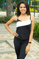 Женская спортивная майка Sexy Sport Black+White