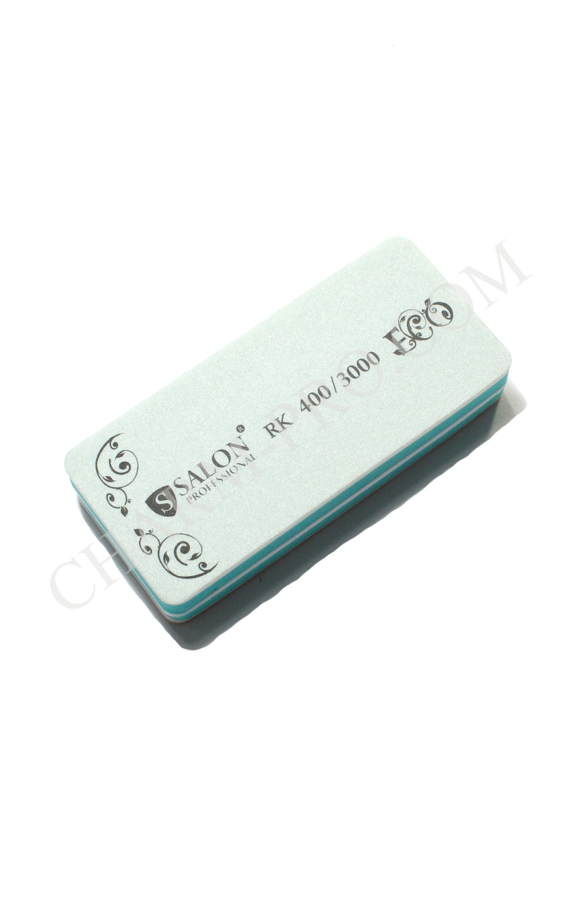 Полировка для ногтей Салон Salon 400/3000 зеленая Сендвич