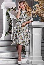 Женское расклешенное платье из принтованного софта (2615-2617 svt), фото 2