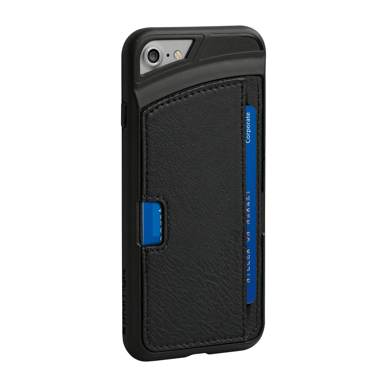 Кожаный защитный чехол для iPhone 7 Promate Wallet-X Black