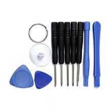 Набор для ремонта телефонов 11 в 1 (3 медиатора, 2 лопатки, 5 отверток, присоска, )