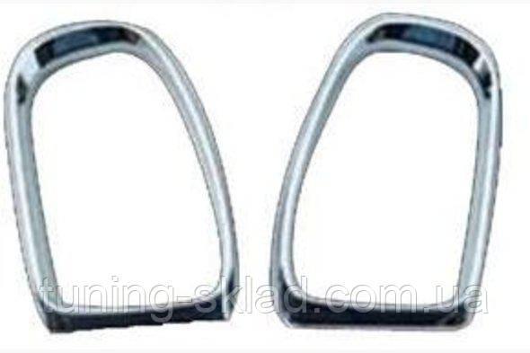 Хром ободки на зеркала Mercedes E-klass W210 (Мерседес Е-класс)